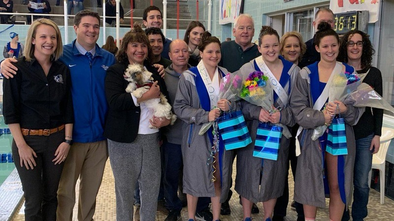 Swimming and Diving Dominates LIU Brooklyn on Senior Day
