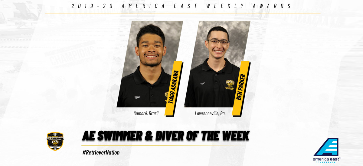 Asakawa, Parker Earn America East Swimmer and Diver of the Week Awards