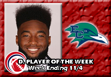 Allen Gibson-Endicott, CCC Football: Defensive Player of the Week