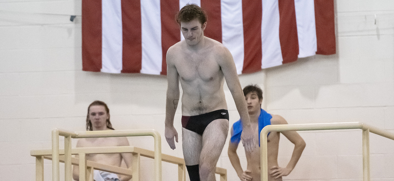 Pennington Highlights Opening Day of NEWMAC Championships For Men's Swimming and Diving