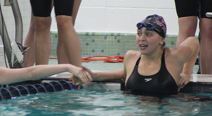 Women's Swimming Holds On To Third Place At NEAC Meet
