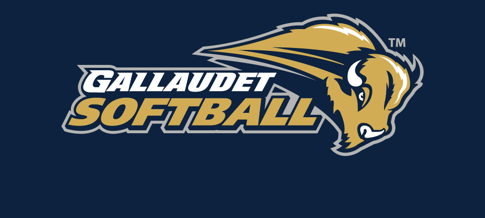 Gallaudet Softball logo on a navy backdrop