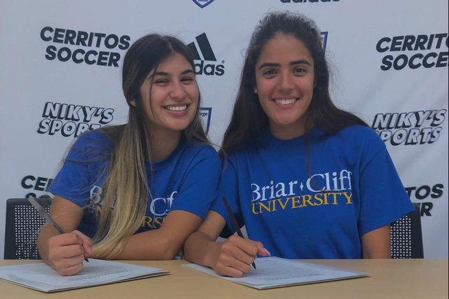 (L-R) Gisselle Jimenez and Brianna Yepez have signed with Briar Cliff University