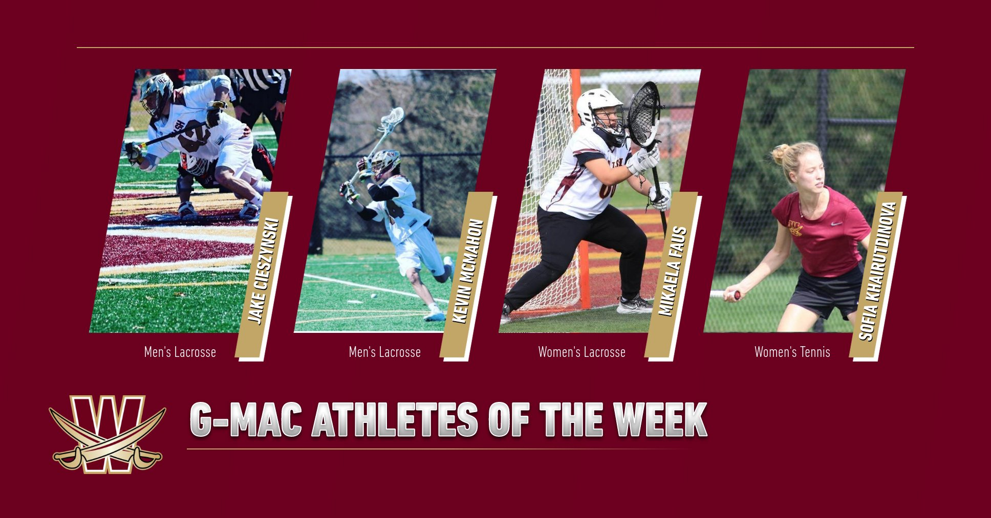 Four Cavaliers Named Athlete of the Week by G-MAC