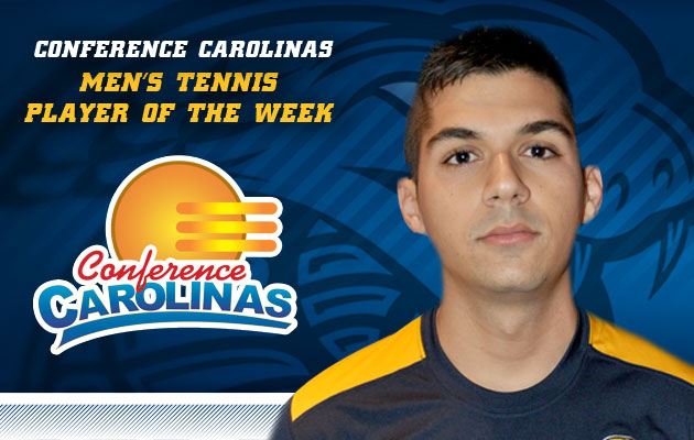 Coker's Aylon Named Conference Carolinas Men's Tennis Player of the Week