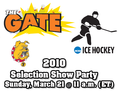 NCAA Men's Ice Hockey Selection Show Party To Be Held This Sunday At The Gate