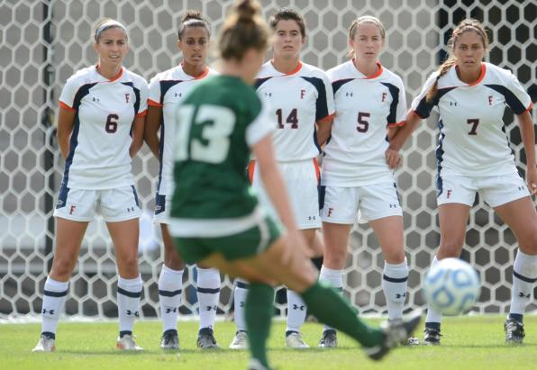 Cal State Fullerton women's soccer vs. Cal Poly... Oct. 21, 2012 at Titan Stadium. Photo by Matt Brown.