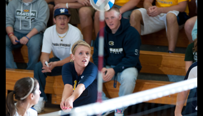 Volleyball Drops Close Match to Nationally-Ranked Pointers