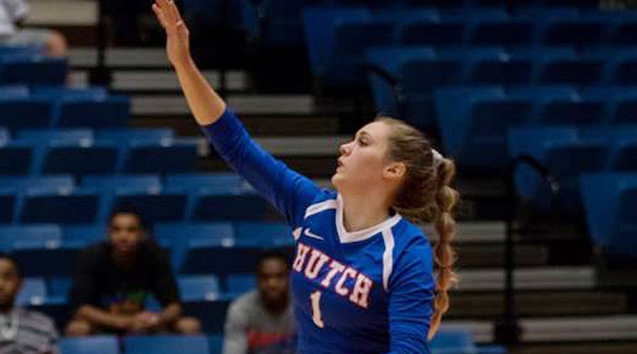 Katie Jorn nearly has a triple-double in leading the Blue Dragons to a 3-0 victory over No. 4 Salt Lake on Friday in Twin Falls, ID. (Allie Schweizer/Blue Dragon Sports Information)