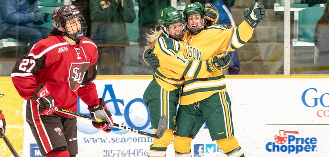 Clarkson completes weekend sweep of St. Lawrence