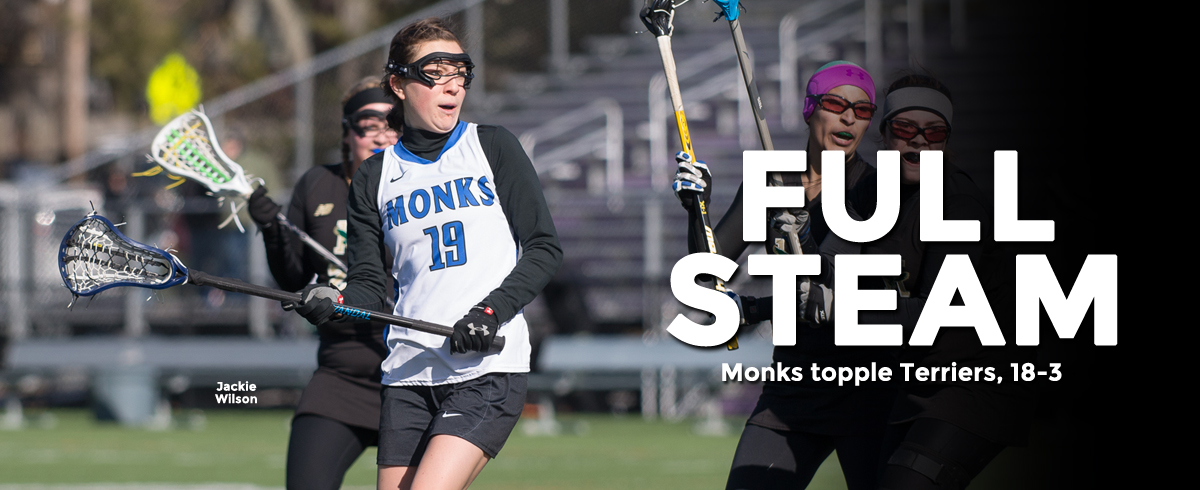 Monks Cruise Past Terriers, 18-3