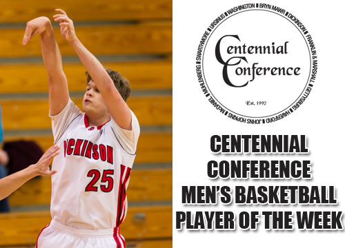 Sophomore Gerry Wixted was named the Centennial Conference Player of the Week for the second time this season<BR>