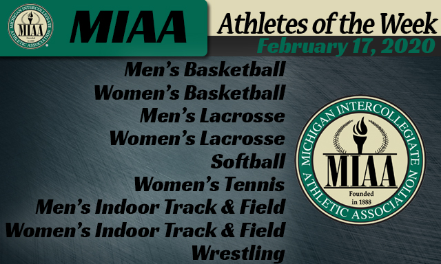 MIAA Athletes of the Week - February 17, 2020