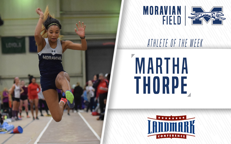 Martha Thorpe honored as Landmark Conference Women's Field Athlete of the Week