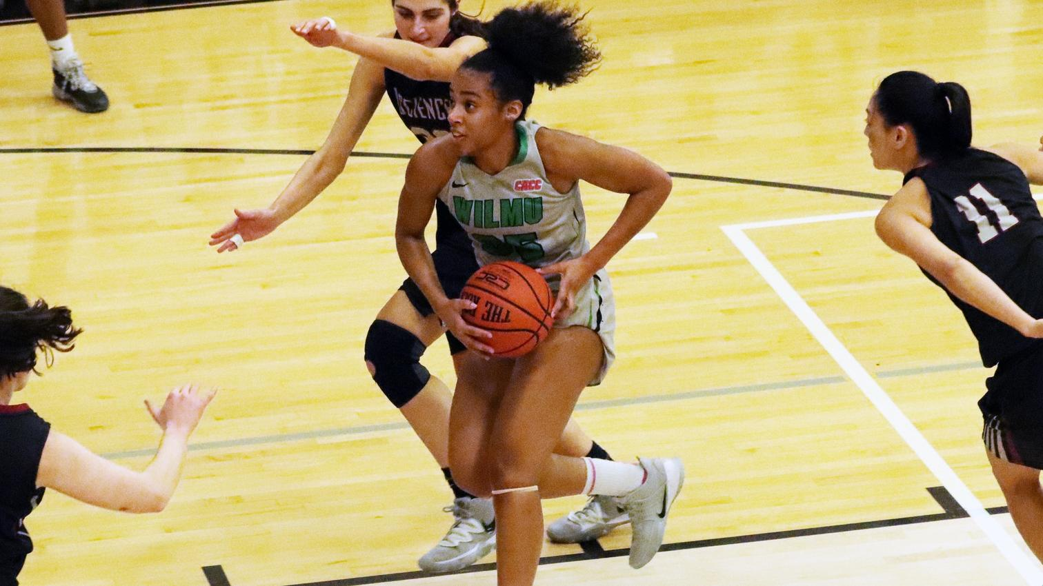 File photo of Jadyn Whitsitt who led the Wildcats with 20 points, nine rebounds, five assists, and two steals at Nyack. Copyright 2020; Wilmington University. All rights reserved. Photo by Laura Gil. January 21, 2020 vs. #24 USciences.