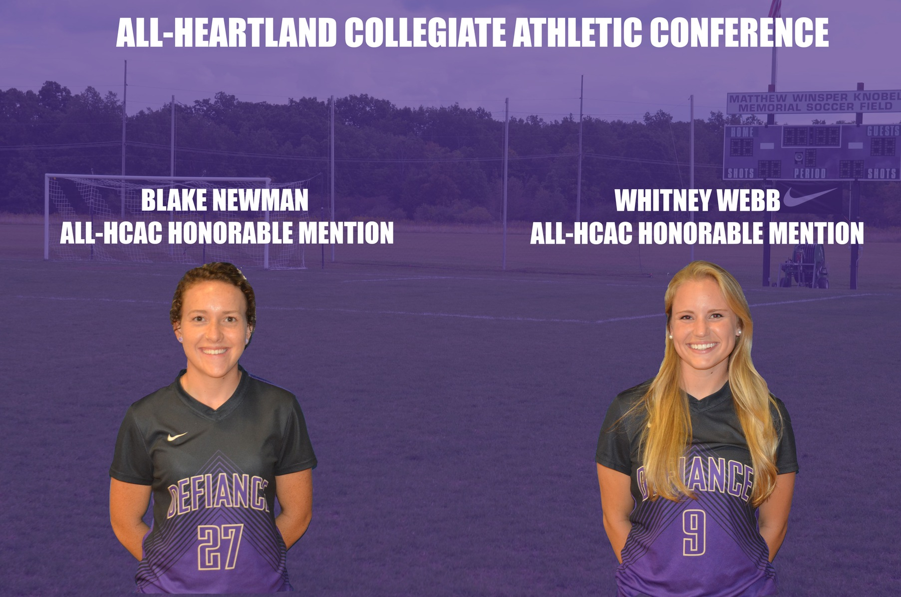 Women's Soccer Lands Trio on All-HCAC Lists