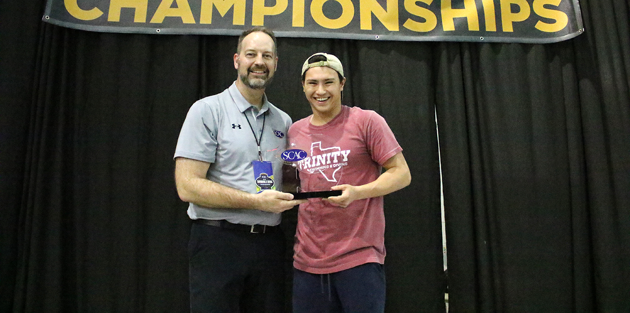 Trinity's Hurrell-Zitelman Named SCAC Men's Swimming & Diving Elite 19 Award Recipient