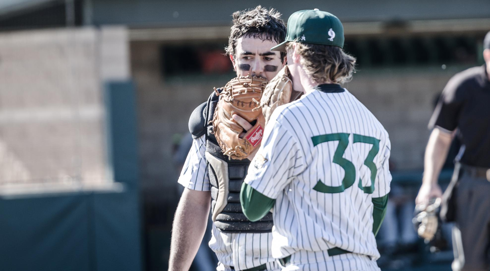 Baseball edged by Chapman, 5-4