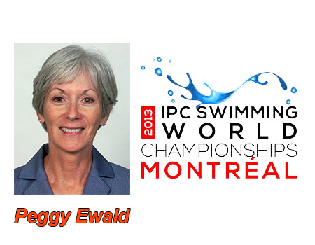 Head coach Peggy Ewald serving with Team USA at IPC World Swimming & Diving Championships in Montreal