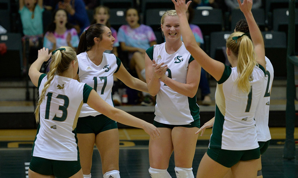 VOLLEYBALL POSTS 3-1 VICTORIES OVER HOLY CROSS AND NEW HAMPSHIRE; FINISH TOURNEY WITH 3-1 RECORD