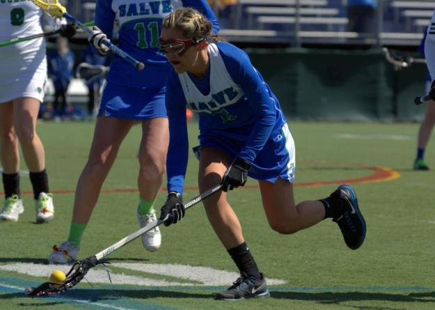 Senior Jennifer Jones nets six goals and adds an assist in Seahawks 17-14 loss to Nichols.