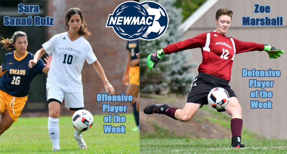 Soccer Duo Earns NEWMAC Weekly Honors