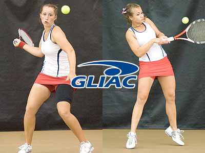 Tiffany Rheynard (left) & Amy Ingle (right) claimed All-GLIAC kudos this fall (FSU Photo Services)