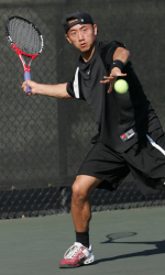 Men's Tennis Wins the First of Two Matches This Weekend