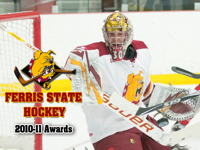 Pat Nagle was named Ferris State Hockey's Most Valuable Player for the 2010-11 season.  (Photo by Ed Hyde/FSU Photographic Services)