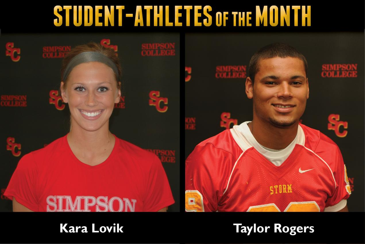 Lovik, Rogers named Student-Athletes of the Month