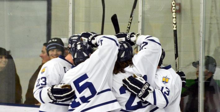 Men's Hockey dominates Marian in season-ending victory
