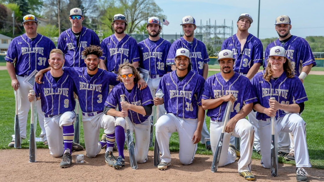 Bellevue honored their 13 seniors between games of Sunday's double-header