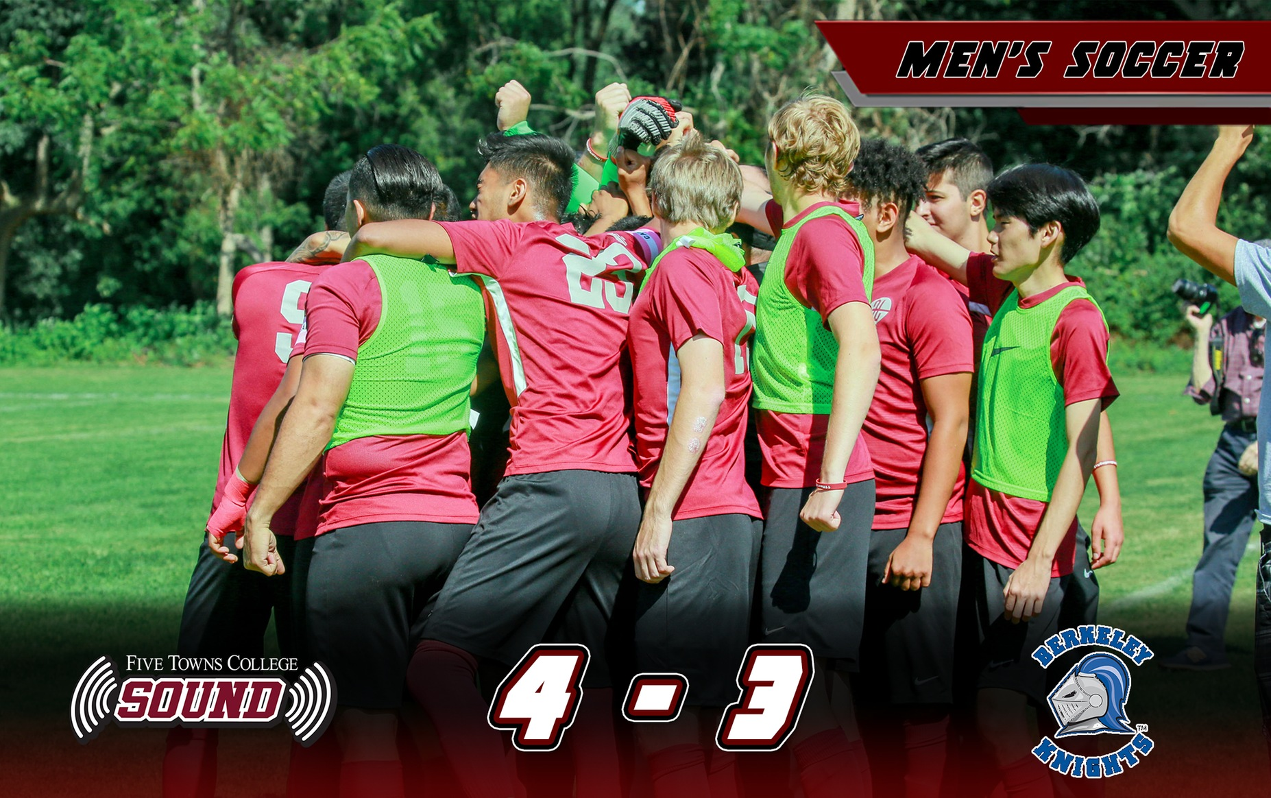 Men's Soccer Defeats #1 Berkeley-NY Knights