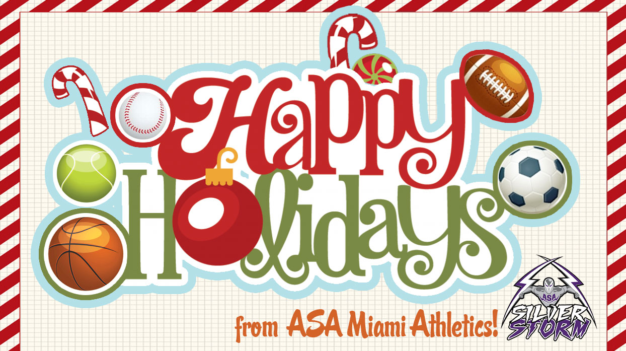 Happy Holidays From ASA Miami Athletics