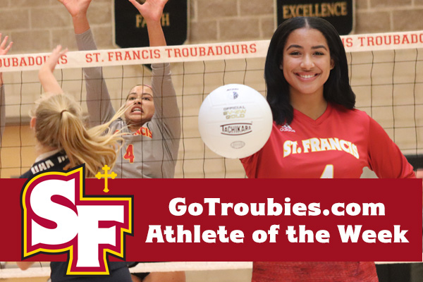 Volleyball's Edwards Named GoTroubies.com Athlete of the Week