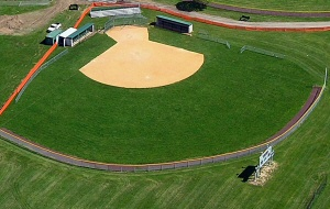 Aerial photo of softball field