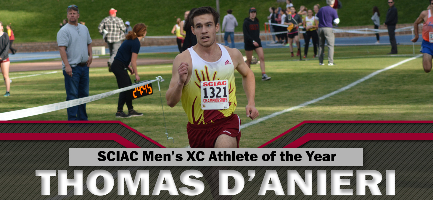 Thomas D'Anieri Wins SCIAC Athlete of the Year for CMS Men's Cross Country