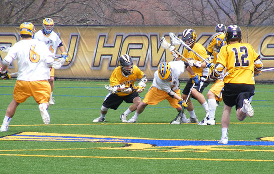 Men's Lacrosse Holds Off Mass. Maritime