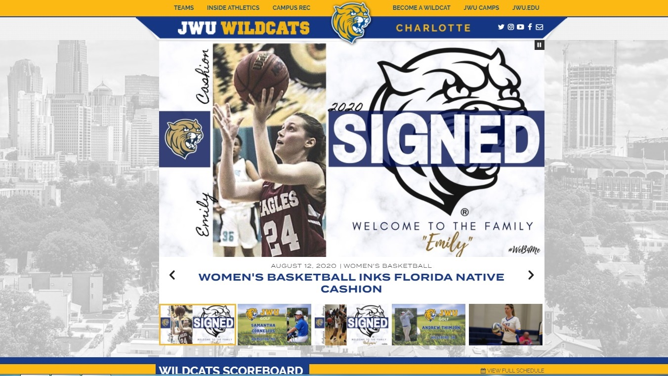 JWU Charlotte Athletics Launches New Website