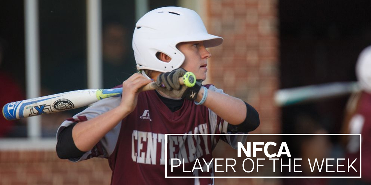 Centenary's Dunn Named NFCA Player of the Week