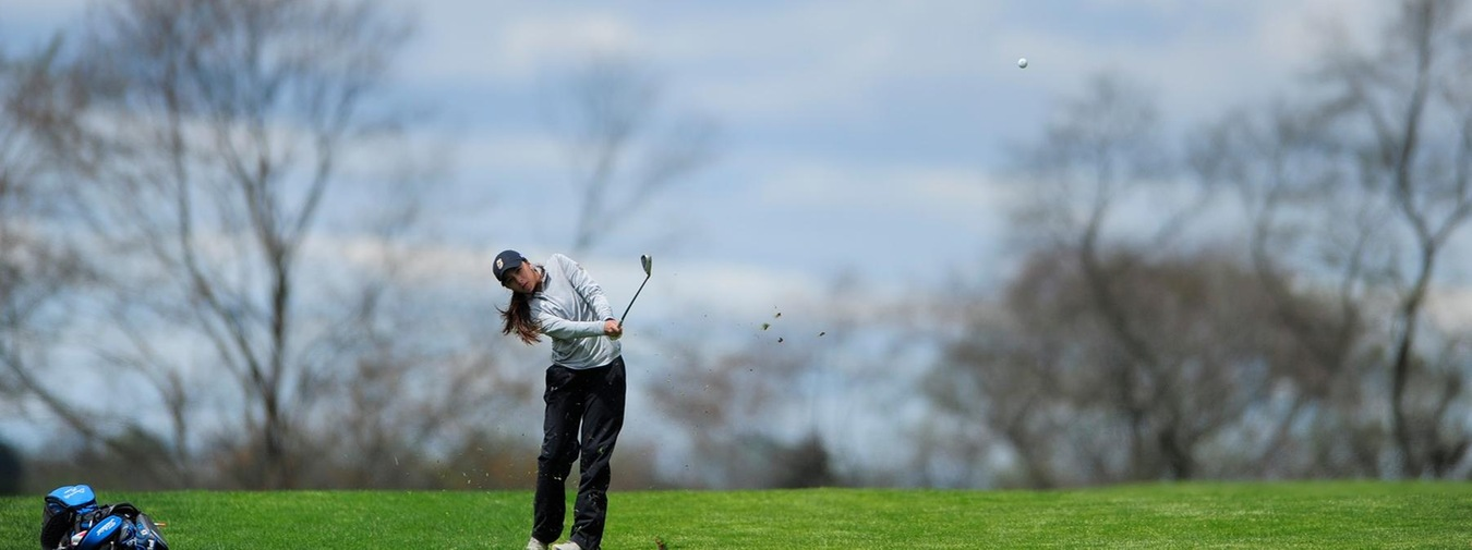 O'Leary And Goucher Women's Golf Both Sit Third After One Round At Landmark Conference Championships