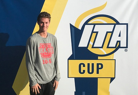 Ethan Hillis of Washington University Finishes Fifth at ITA Cup