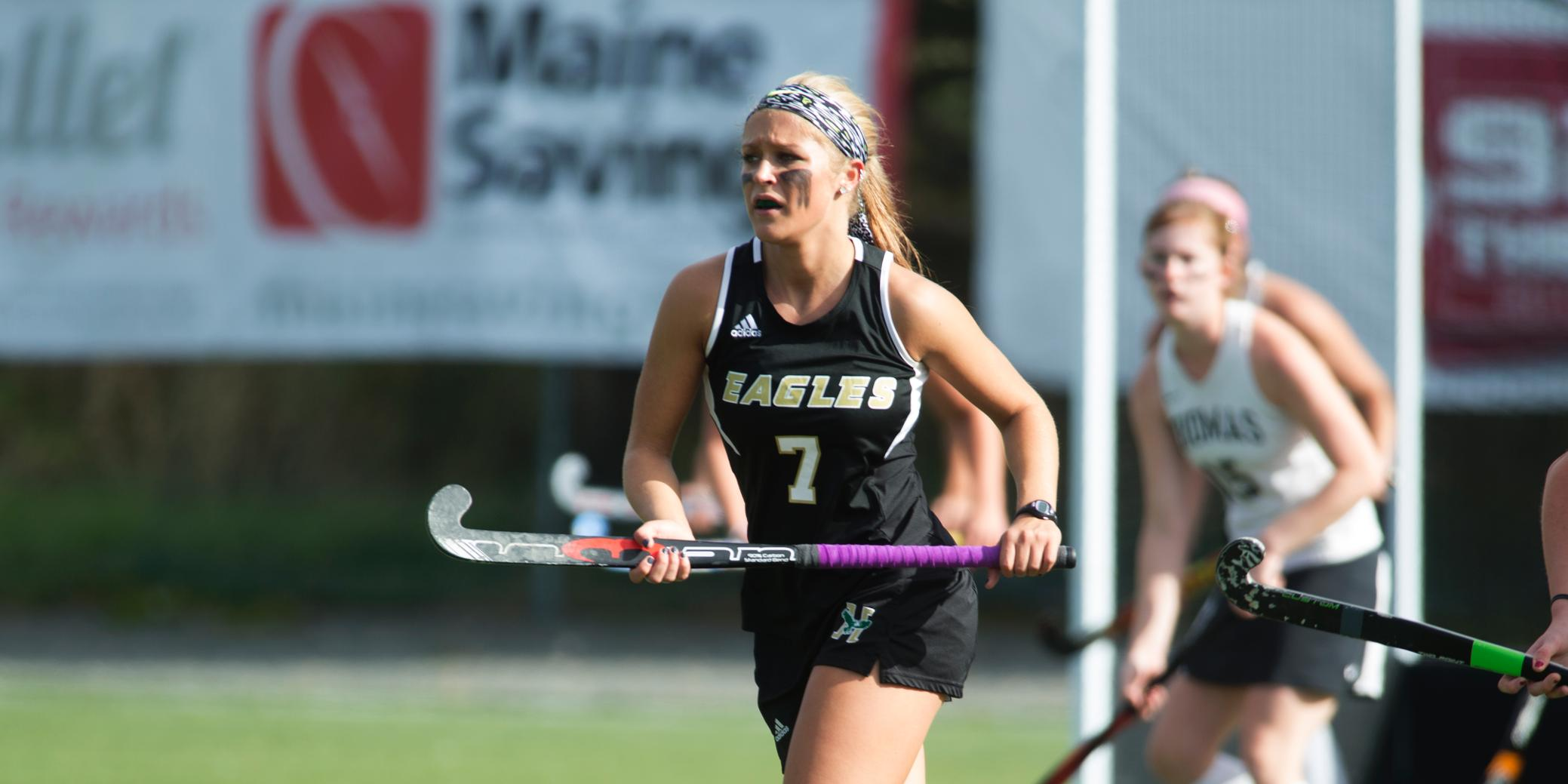 Field Hockey Loses in Double Overtime to #17 University of New England, 2-1