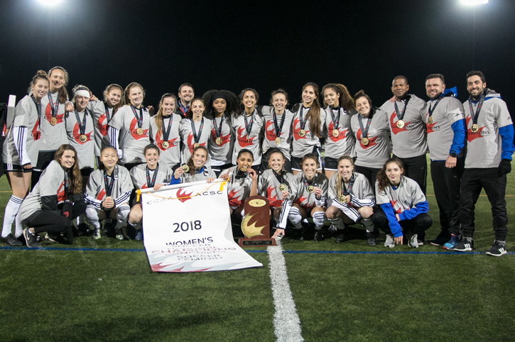 Cavaliers dethrone Élans for first CCAA Women's Soccer title