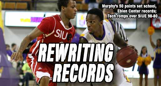 Murphy pours in record-setting 50 points, Tech rolls past SIUE