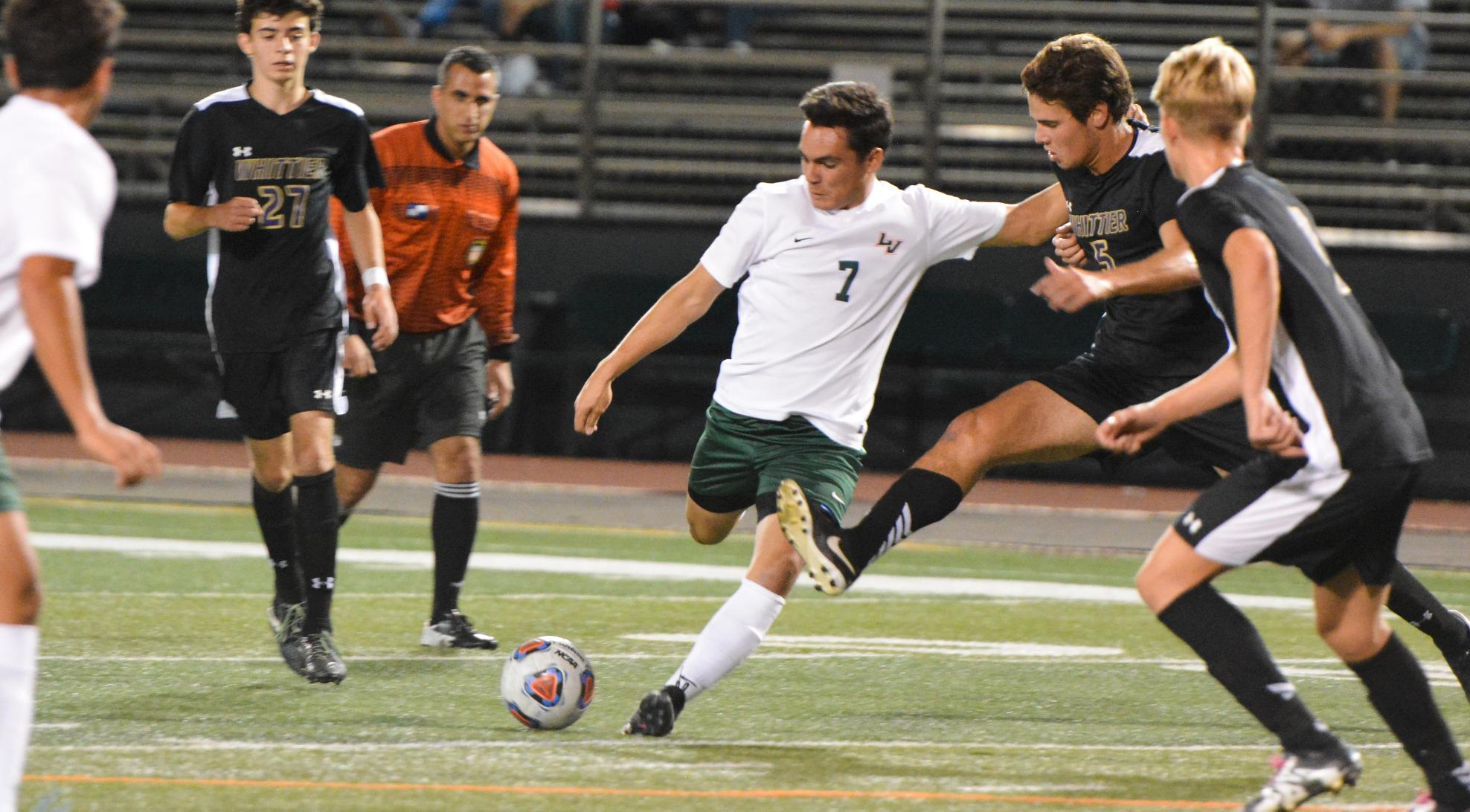 Uribe scores hat trick, Men's Soccer tops Caltech