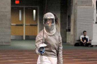 Hanley named Northeast Fencing Conference Fencer of the Month