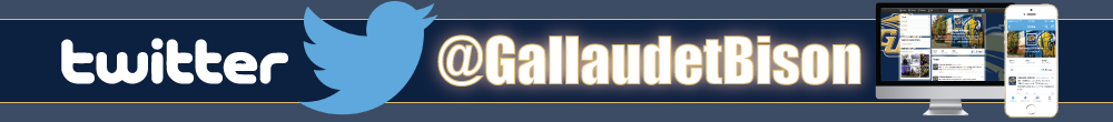 Gallaudet Bison Twitter advertisement