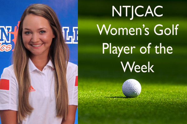 NTJCAC Women's Golf Player of the Week (March 26 - April 1)