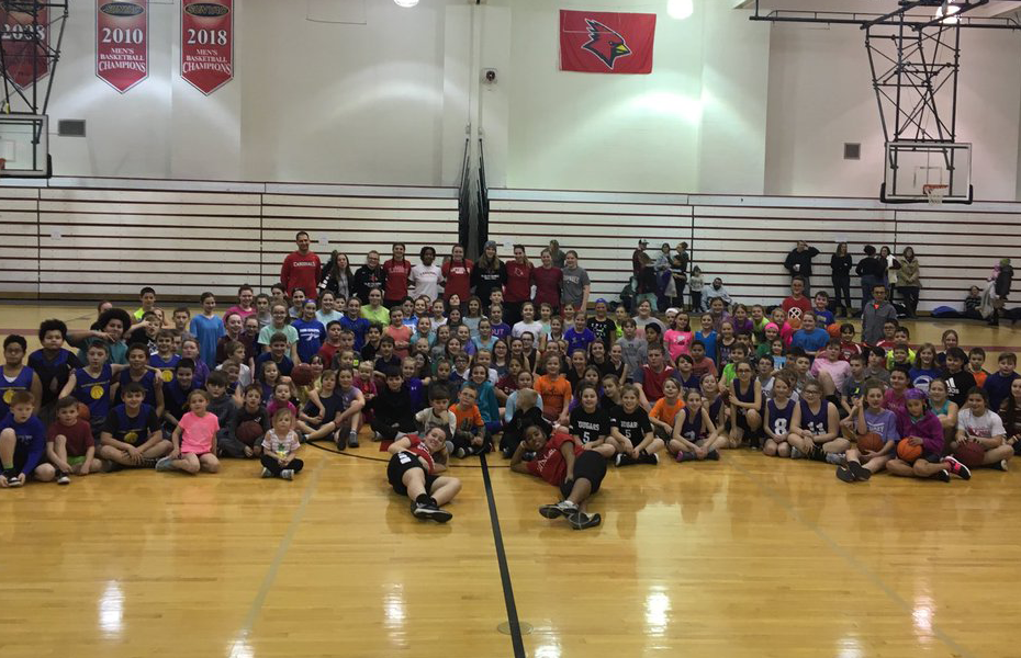 Athletes off the Field: Plattsburgh women's basketball hosts 200 local kids for free basketball clinic